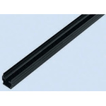 Bosch Rexroth Panel Strip, PP, 6mm Slot, Black, 1pcs x 2m