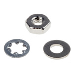 RS PRO 400 piece Brass, Steel Nuts and Washers, M2.5