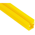 RS PRO Cover Strip, PP, 8mm Slot, Yellow, 10pcs x 2m