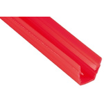 RS PRO Cover Strip, PP, 8mm Slot, Red, 10pcs x 2m