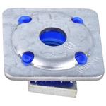 Unistrut Channel Nut, M10 x 41 mm, Nut Base Dimensions 40 x 40mm, Zinc Plated Steel, 0.058g
