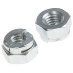 Aerotight, M3, Bright Zinc Plated Steel Aerotight Lock Nut