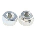 Aerotight, M4, Bright Zinc Plated Steel Aerotight Lock Nut
