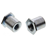 RS PRO Steel Clear Passivated, Zinc Self-Clinching Standoff, M3