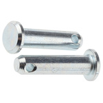 3/4in Bright Zinc Plated Steel Clevis Pin, 3/16in Diameter