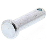 1in Bright Zinc Plated Steel Clevis Pin, 1/4in Diameter