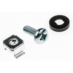 RS PRO Nylon 10 Piece Cross Drive Cage Nut, Screw & Washer Set
