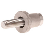 16mm Nickel Plated Stainless Steel Earth Bonding, 0 → 4 mm Thickness