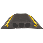 Vulcascot Cable Cover, 23mm (Inside dia.), 30 mm x 178mm, Black/Yellow, 3 Channels