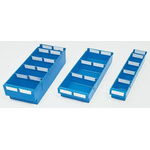 Linpac Storage Systems PP Storage Bin Storage Bin, 115mm x 188mm, Blue