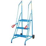 RS PRO 3 Tread Steel Steps 0.3m Platform Height, Blue