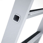 Zarges Aluminium 3 steps Step Ladder, 0.8m platform height, 1.59m open length