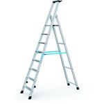 Zarges Aluminium 8 steps Step Ladder, 1.7m platform height, 2.29m open length