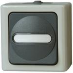 Kopp, Modular Switch, Grey, Surface Mount, IP44, 10A
