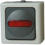 Kopp, Modular Switch, Red, Surface Mount, IP44, 10A