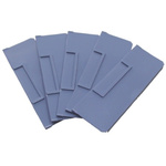 RS PRO Front-to-Back Bin Divider Blue for use with 234 x 90 mm Shelf Bin