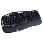 Logitech Keyboard Wireless USB, QWERTY (UK) Black