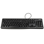 Logitech Keyboard Wired USB, AZERTY Black