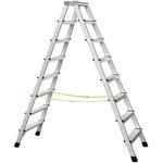 Zarges Aluminium 2 x 8 steps Step Ladder, 1.8m open length