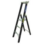 Zarges Aluminium 3 steps Step Ladder, 0.8m platform height