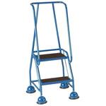 RS PRO 2 Tread Steel Steps 0.508m Platform Height, Blue