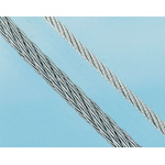 RS PRO Galvanised Metal Wire Rope, 50m