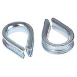 RS PRO Steel Galvanised Thimble, 3mm