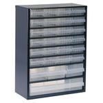 Raaco 28 Drawer Storage Unit, Steel, 417mm x 306mm x 150mm, Blue