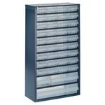 Raaco 40 Drawer Storage Unit, Steel, 552mm x 306mm x 150mm, Blue