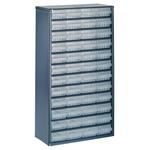 Raaco 48 Drawer Storage Unit, Steel, 552mm x 306mm x 150mm, Blue