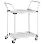 RS PRO 2 Shelf Metal Trolley, 760 x 460mm, 200kg Load