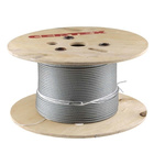 RS PRO Galvanised Metal Wire Rope, 75m