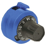 Atoms Potentiometer Dial, Dial Type, 23mm Knob Diameter, Blue, 6mm Shaft, For Use With CT85B Series