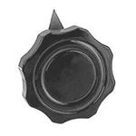 Ohmite Pointer Knob, Finger Grip With Pointer Type, 60.3mm Knob Diameter, Black, 6.35mm Shaft, For Use With G Rheostat