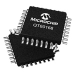 QT60168-ASG, Spread-Spectrum Charge-Transfer Touch Screen Controller, 11 bit SPI Hard-Wire, 32-Pin TQFP