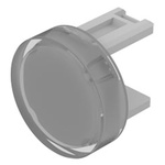 White Round Push Button Lens for use with 31 Series