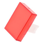 Red Rectangular Push Button Lens for use with 31 Series
