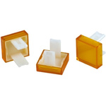 Yellow Square Push Button Lens for use with 31 Series