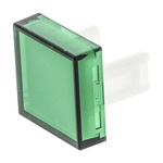 Green Square Push Button Lens for use with 31 Series
