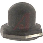 Boot,Pushbutton, Silicone Rubber Boot, Molded In Mounting Nut, Gray