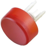 Red Round Push Button Lens for use with 19 Series