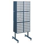 Raaco Drawer Storage Unit, Steel, 1600mm x 622mm x 570mm, Blue