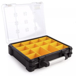 Stanley 14 Cell Transparentaluminium, Adjustable Compartment Box, 110mm x 492mm x 431mm