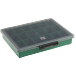 Raaco 18 Cell Green PP Compartment Box, 43mm x 240mm x 195mm