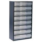Raaco 24 Drawer Storage Unit, Steel, 552mm x 306mm x 150mm, Blue