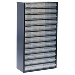 Raaco 60 Drawer Storage Unit, Steel, 552mm x 306mm x 150mm, Blue