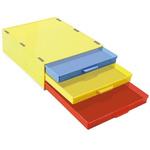 Licefa 3 Drawer Storage Unit, Plastic, 108mm x 355mm x 265mm
