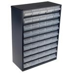 Raaco 45 Drawer Storage Unit, Steel, 417mm x 306mm x 150mm, Blue