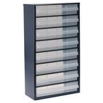 Raaco 8 Drawer Storage Unit, Steel, 552mm x 306mm x 150mm, Blue
