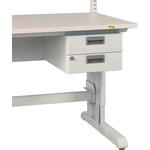 Treston Ltd 2 Drawer Unit, 220mm x 300mm x 454mm, White